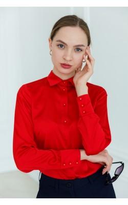 Червона блуза з шовку ARMANI 15187-818