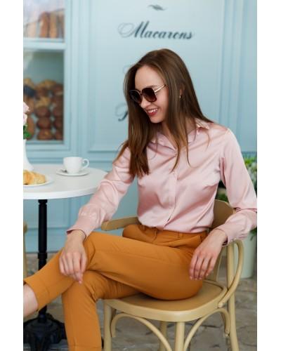 Пудрова блуза з шовку ARMANI 15187-819