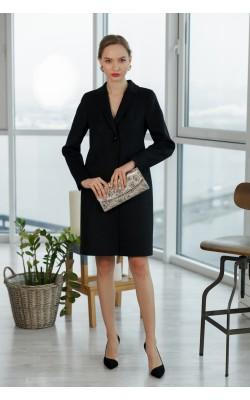 Класичне чорне пальто 20-117-2-760