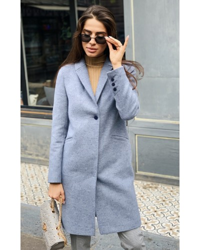 Сіро-блакитне пальто 20-117-2-869-144