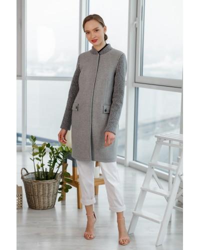 Сіре пальто на весну 20-178-759