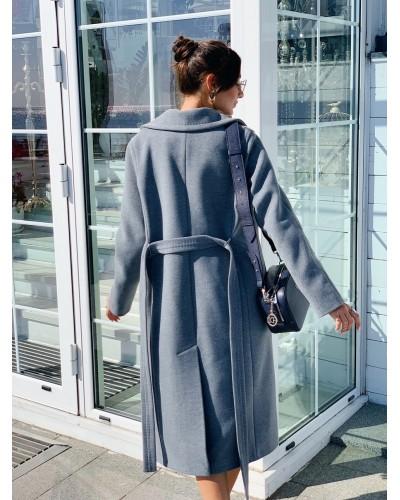 Утеплене пальто на запах 20-199/У-872-145-3
