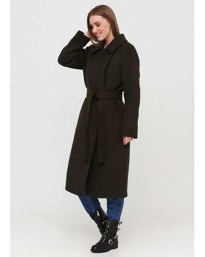 Базове пальто прямого крою кольору хакі