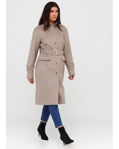 Класичне однобортне пальто бежевого кольору