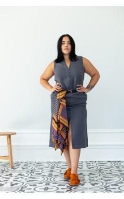Сукня з льону 30-261-130