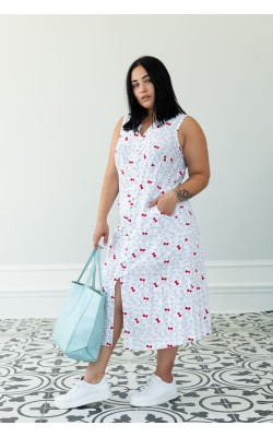 Сукня з принтом бант 30-272-505