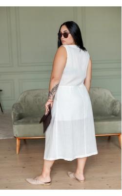 Сукня з льону світла 30-272-547