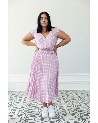 Сукня-плісе горохивий принт 30-281-807