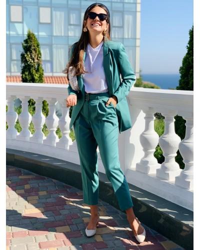 Зелені штани 30-286/1-853