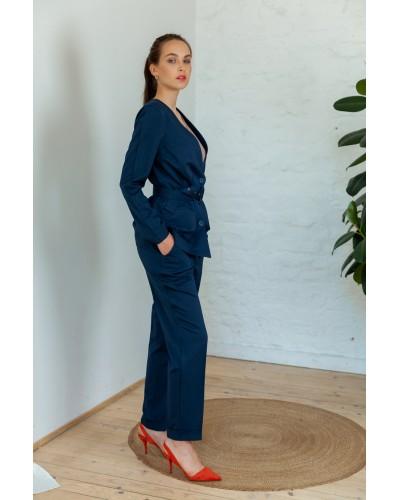 Штани темно-синього кольору з ременем 30-306 / 1: