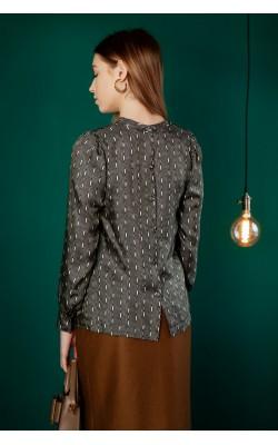 Атласна блуза прямого крою 30-322-993