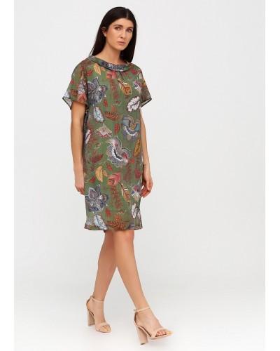 Екстравагантна зелена сукня з квітковим принтом