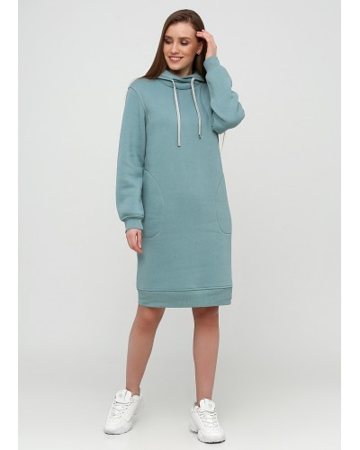 Ментолове спортивне плаття з начосом