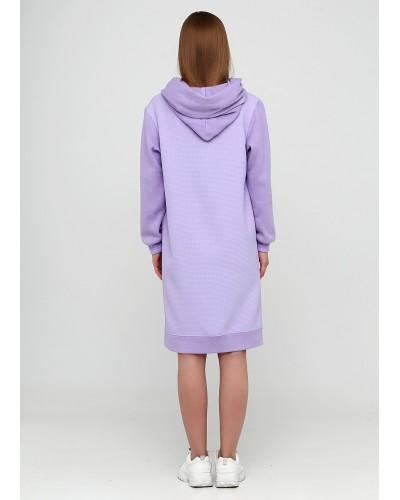 Базове плаття лавандового відтінку з капюшоном