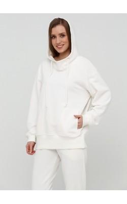 Базовий білий світшот трикотажний костюм