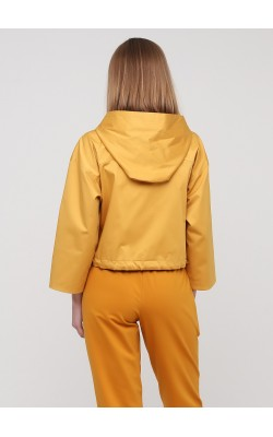 Жакет-куртка бурштинового кольору на удзиках