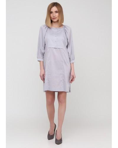 Сіра сукня 2 в 1 на удзиках середньої довжини