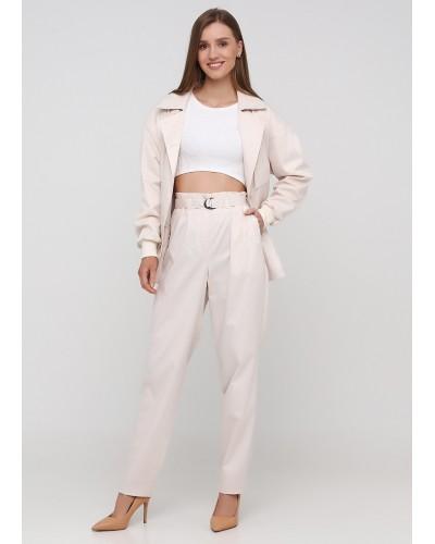 Класичні штани молочного кольору