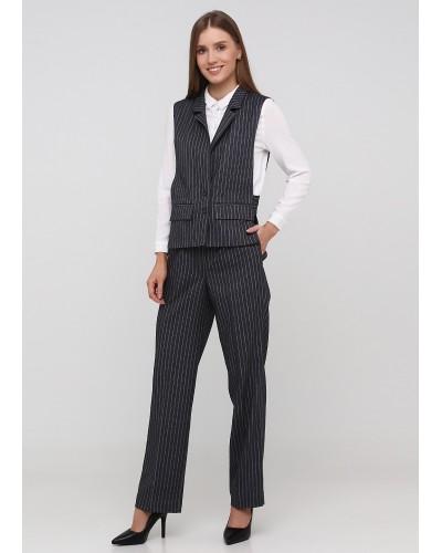 Класичні сірі штани в смужку зі стрілками