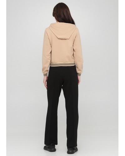 Трикотажні чорні штани на резинці з зав'язками