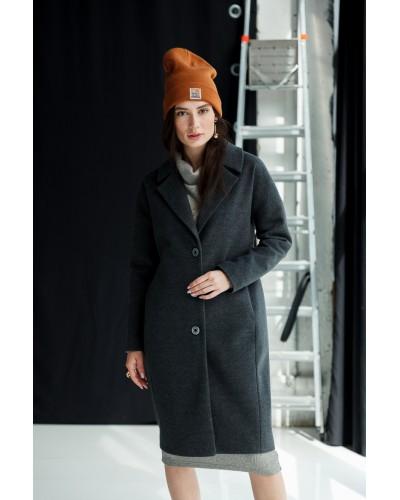 Темно-сіре утеплене пальто 77-1110__U 679-112-6