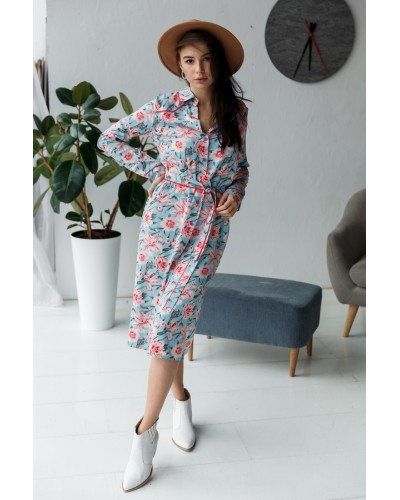 Сукня-халат в квітковий принт 77-347-701
