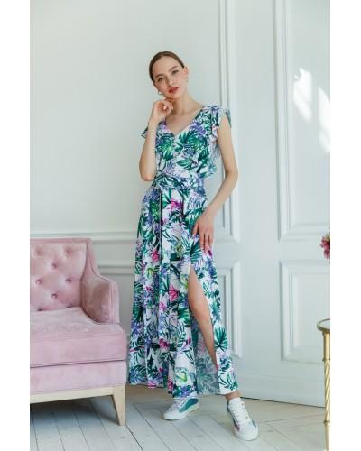 Сукня з тропічним принтом 77-359-712