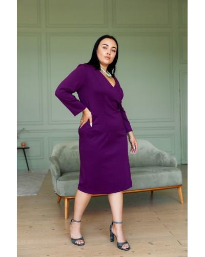 Сукня футляр, баклажан 77-366-722