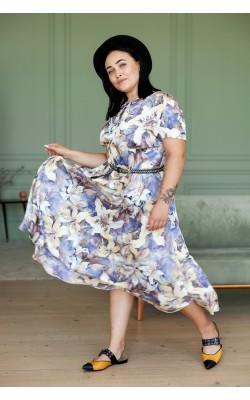 Атласна сукня з ліліями 77-367-721