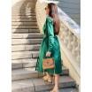 Сукня кольору хвої з пряжкою 77-373-739