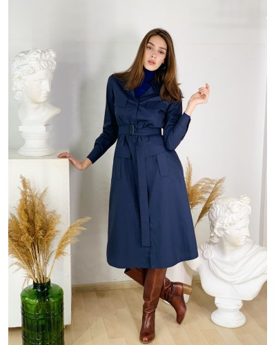 Темно-синя сукня 77-389-760