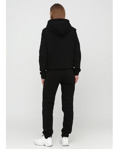 Класичні трикотажні чорні штани з начосом