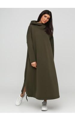 Екстравагантне плаття оверсайз кольору хакі