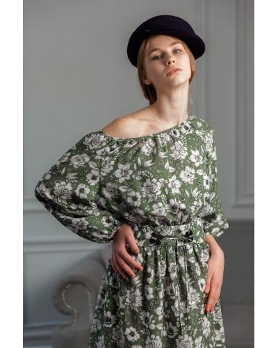 Сукня з преспущеним плечем 77-405-780