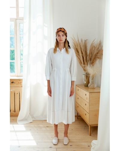 Сукня з об'ємними рукавами ліхтариками 77-416-799
