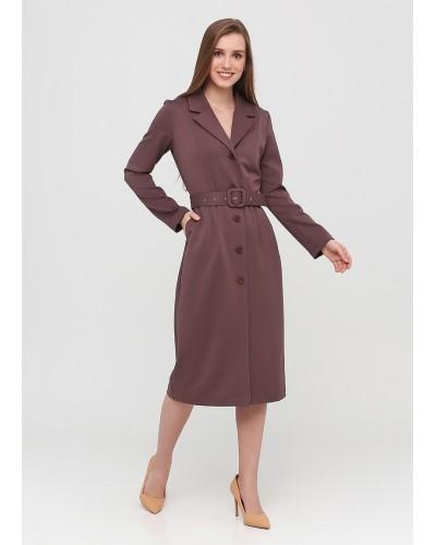 Класичне коричневе плаття на удзиках