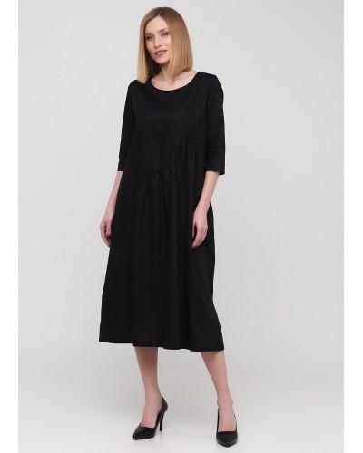 Оригінальна чорна сукня середньої довжини