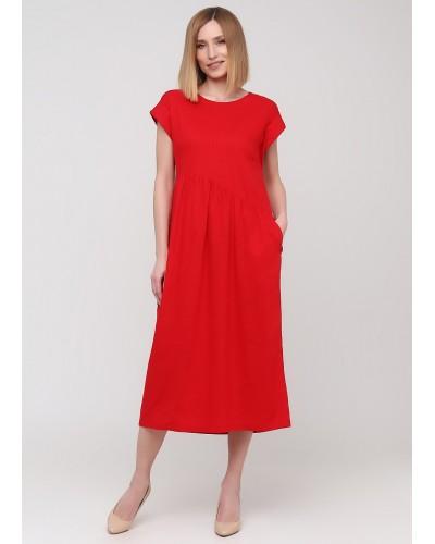 Яскрава літня червона сукня
