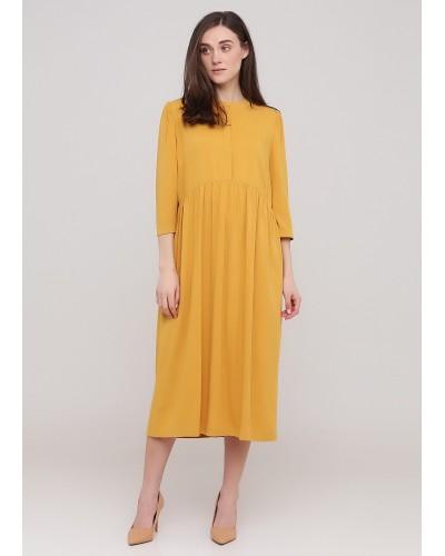 Сукня гірчичного кольору на удзиках