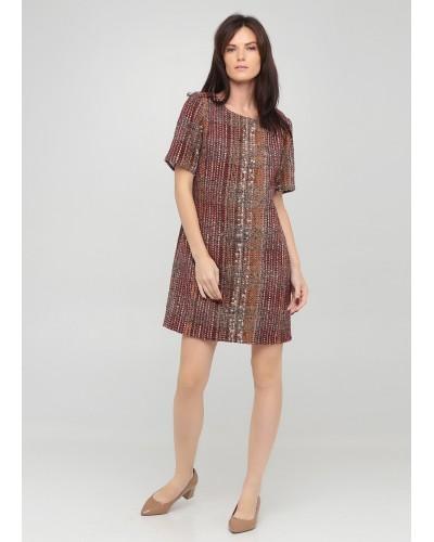 Класична сукня меланж прямого крою